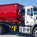 dumpster truck red